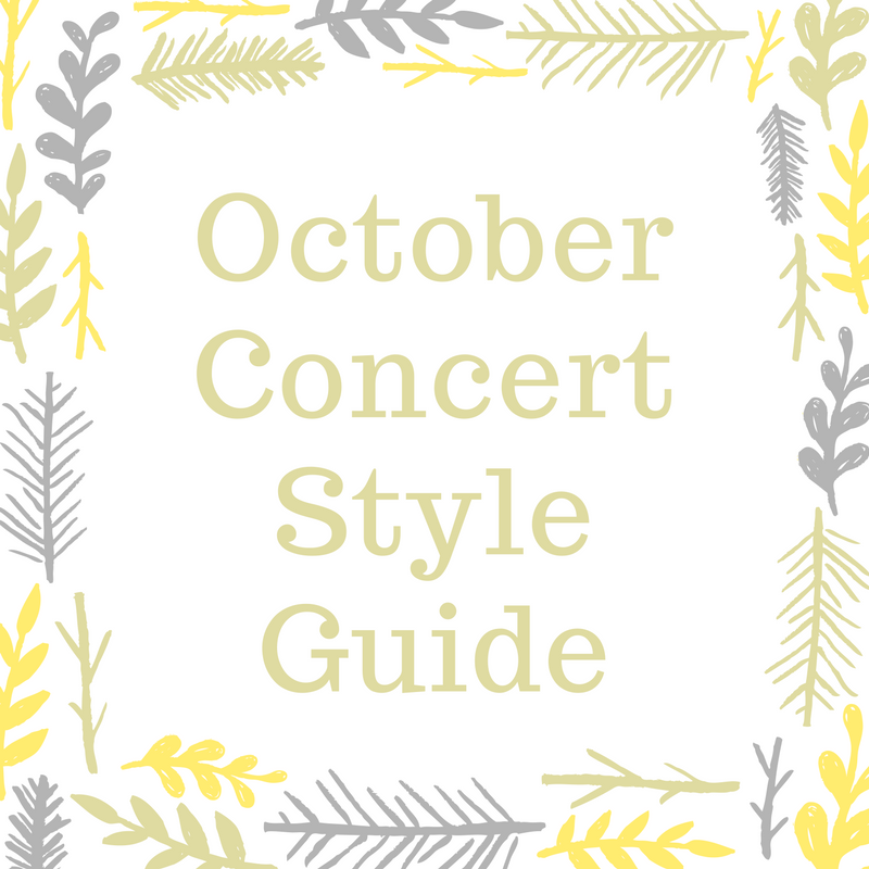 October Concert Style Guide